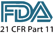 Logo de la Food and Drug Administration - FDA - pour la norme CFR 21 Part 11