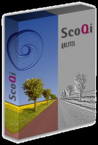Boîte des logiciels qualité de la Gamme QALITEL de SCOQI du temps ou ils étaient lvrés sur CD-ROM