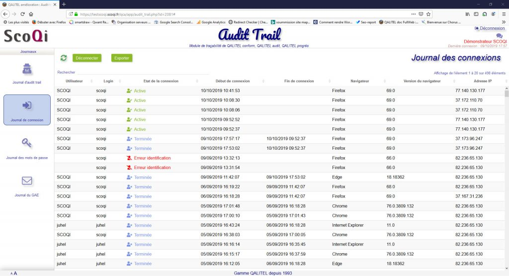 logiciel-gestion-non-conformite-action-qualite-qalitel-conform - module-tracabilite-audit-trail-qalitel-audit-conform-progres-connexion