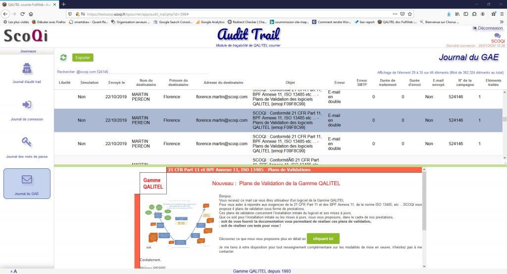 logiciel-gestion-courrier-entrant-sortant-traitement-suivi - module-tracabilite-audit-trail-qalitel-courrier-journal-e-mails-gae