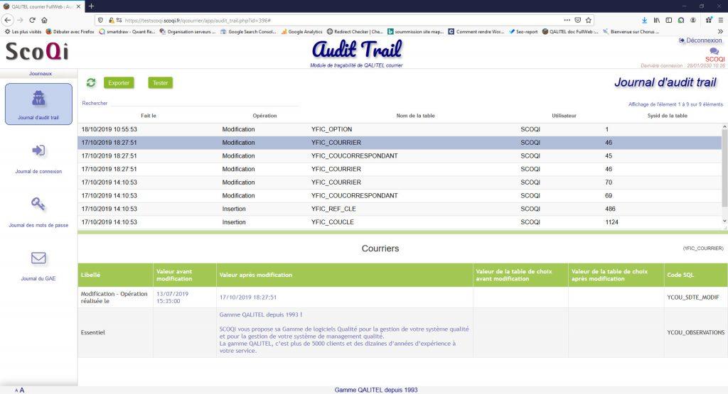 logiciel-gestion-courrier-entrant-sortant-traitement-suivi - module-tracabilite-audit-trail-qalitel-courrier-modification